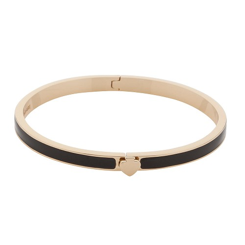 Kate Spade New York Thin Hinged Bangle Black Bracelet